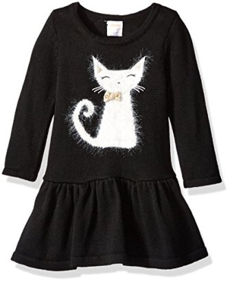 Gymboree-Baby-Girls-Black-Cat-Sweater-Dress