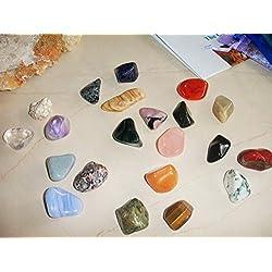 21 Large Natural Tumbled Stones Basic Chakra Balancing Healing Kit Set Reiki & Using Feng Shui