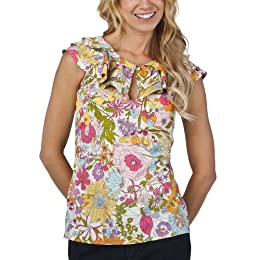 Product Image Liberty of London for Target® Tiered Ruffle Keyhole Tank - Multi Color Sixty Print