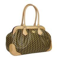Aristo Brown Shoulder Satchel by Rioni Designer Handbags