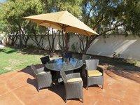 Kontiki Patio Furniture  The Ritz Sunbrella Series Dining ...