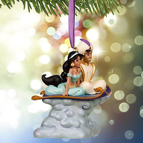Disney Xmas Ornament Jasmine & Aladdin