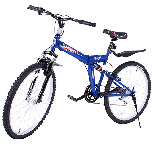 VEVOR Folding Mountain Bike 7 Speed Mountain Bike 26Inch Shimano Carbon Steel