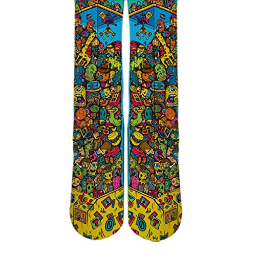 DopeSox Men's Retro Sticker Bomb Dope Sox One Size (6-12) White