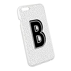 Amazon.com: Letter B Initial Sprinkles Black White Snap On