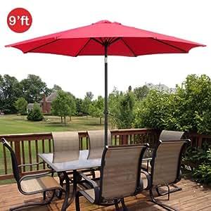 Amazoncom  GotHobby 9ft Outdoor Patio Umbrella Aluminum