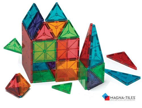 Valtech Magna-Tiles 04300 Clear Colors - 100 Pc Set Value Pack