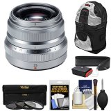 Fujifilm-35mm-f20-XF-R-WR-Lens-Silver-with-3-Filters-Sling-Backpack-Strap-Kit-for-X-A2-X-E2-X-E2s-X-M1-X-T1-X-T10-X-Pro2-Cameras
