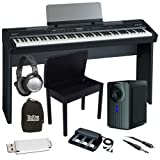Roland FP-7F Black Digital Piano BUNDLE+ w/ Subwoofer, Bench & Stand