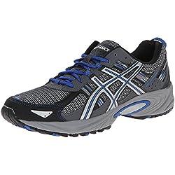 ASICS Men's Gel Venture 5 Running Shoe, Silver/Light Grey/Royal, 9 M US
