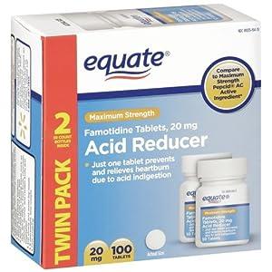 Amazon.com: Equate - Acid Reducer, Maximum Strength, Famotidine 20 mg, 100 Tablets Compare to Pepcid AC: Health & Personal Care