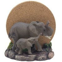 Decorative Elephants Drink Coaster Set with Holder ...