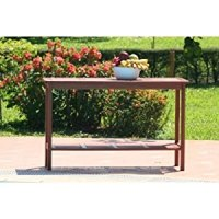 Amazon.com : Dark Wood Outdoor Patio Console Table : Patio ...