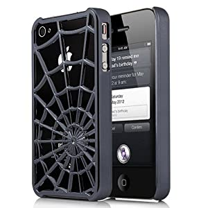 The Amazing Spiderman gunmetal metallic spiderweb hard case for iPhone 4/4s at amazon