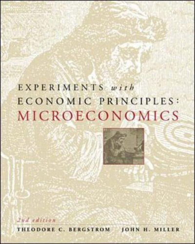 Experiments With Microeconomic Principles 9780071161725