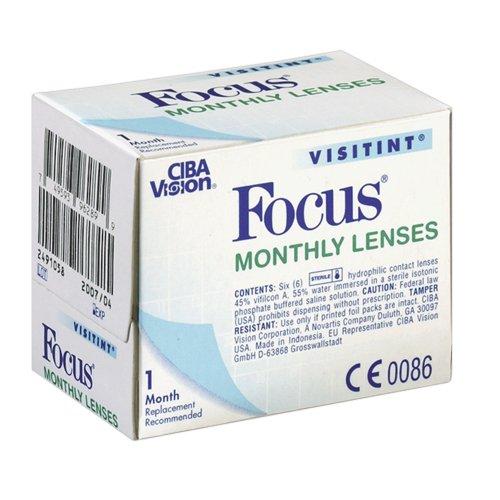 CIBA Vision, Focus Visitint, Packung mit 6 Kontaktlinsen, Stärke frei wählbar (BC 8.90 oder 8.60 / Dia 14.0mm)