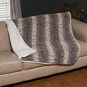 Amazoncom Snake Skin sherpa Mink Blanket Throw