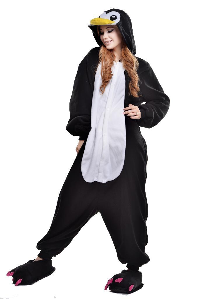 Newcosplay Unisex Penguin Pyjamas Kigurumi Halloween Onesie Costume