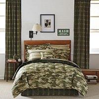 Camo Bedding In A Bag: Teen Boy Green Brown Camouflage ...