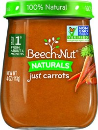 Beech-Nut Stage 1 Baby Food, Carrots, 4 Ounce (Pack of 10 ...