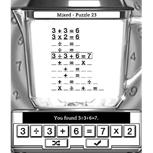 Math Blender  (A Free Puzzle Game for Kindle)