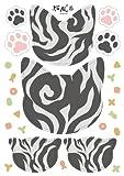 【2枚セット】 猫パッチン 障子 や 襖 の補修にも使える 和風 ステッカー ( アメショ 柄 x 2枚) 柄の組み合わせができる2枚セットです。【ネコプロ】【 Overseas Delivery 】