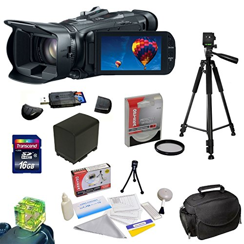 """Canon VIXIA HF G30 HD Camcorder with HD CMOS Pro/32GB Internal Flash Memory plus Best Value Accessory Kit: 16GB High Speed SDHC Card + USB 2.0 Card Reader + 58MM HD UV Filter + Extra Battery + Professional 54"""" Tripod + Padded Carrying Case + Cleaning Kit + More"""