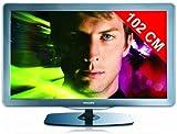 Philips 40PFL6605H/12 101,6 cm (40 Zoll) LED-Backlight-Fernseher (Full-HD, 100Hz, DVB-T/-C) silber/schwarz