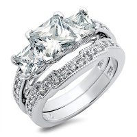 Cheap Zirconia Wedding Rings Sets | Wedding Rings For Women