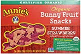 Annie's Homegrown Fruit Snacks, Strawberry Bunny, 5 Count