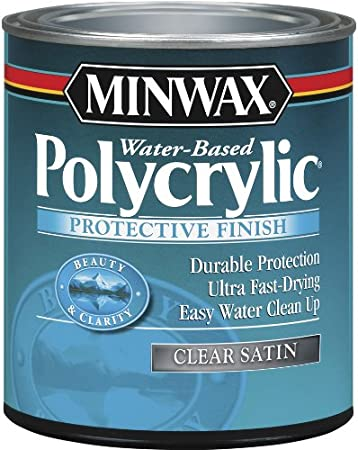 Minwax 63333 Satin Polycrylic Protective Finishes, 1 Quart