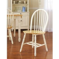 Oak Dining Set 6 Piece Traditional White and Natural ...