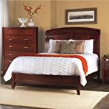 Modus Furniture Brighton Sleigh Low Profile Queen Size Bed, Wood, Cinnamon