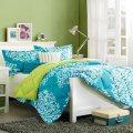 Lime green amp turquoise teal blue comforter set girls tween amp teen