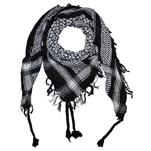 Superfreak® Palituch Grundfarbe schwarz°PLO Schal°100×100 cm°Pali Palästinenser Arafat Tuch°100% Baumwolle – alle Farben!!!