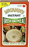 McCann's Maple and Brown Sugar Instant Irish Oatmeal, 15.1-Ounce Boxes (Pack of 12)