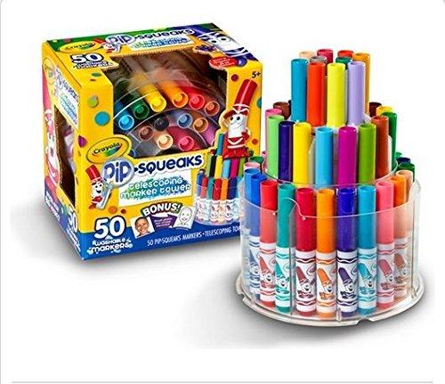 Crayola 58-8750 Crayola Telescoping Pip-Squeaks Marker Tower, Assorted Colors, 50/Set