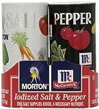 Morton's Salt/McCormick Pepper Double Pack, 4 oz Shakers