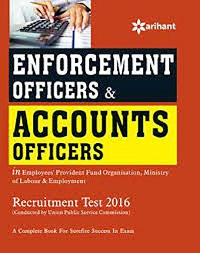 Enforcement  Officers & Accounts Officers (Recruitment Test 2016)