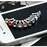 Diamond Anti Dust 3.5mm Earphone Jack Plug Stopper for iPhone 4 4S Galaxy (Random Color)