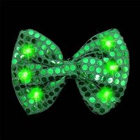 Light-Up Green Sequin Bow Tie | shopswell