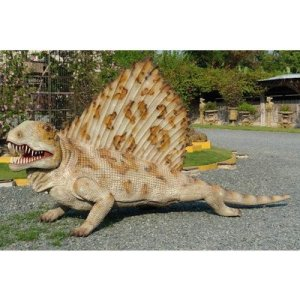 全長3.7m!ディメトロドン巨大フィギュア(恐竜等身大フィギュア)