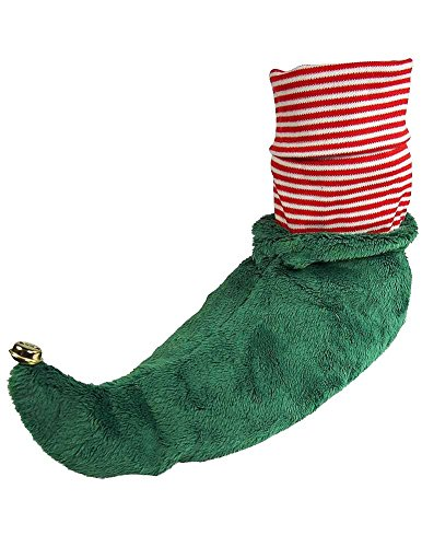 Wishpets - Adults Elf Slippers, Green 37441-Medium