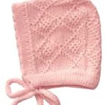 Knit Soft Baby Bonnet, Sizes: 0-3 M, 3- 9 M, Color: Pink (0-3 m)