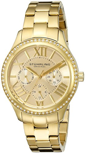 02 regent lady majestic quartz swarovski gold tone watch,stuhrling original women,s 391ls,video review,(VIDEO Review) Stuhrling Original Women's 391LS.02 Regent Lady Majestic Quartz Swarovski Gold Tone Watch,