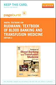 Textbook of Blood Banking and Transfusion Medicine - Elsevier eBook on VitalSource (Retail Access Card). 2e: 9781455734207: Medicine & Health ...