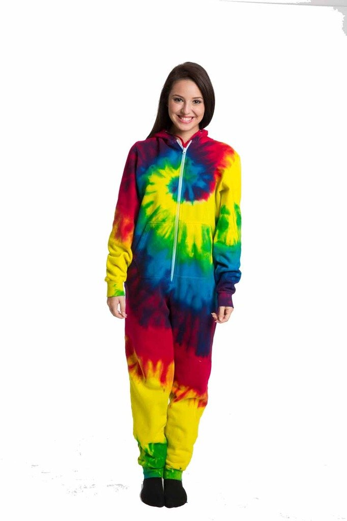 Multi Color Tie Dye All in one Adults Onesie