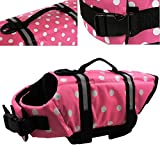 OurWarm Wave Pet Dog Life Jacket Doggy Life Vest CoatPet Dog Saver Life Vest Coat Flotation Float Life Jacket Pink Small Size