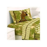 Scooby Doo Safari 4pc Bed Sheet Set Full Size Bedding