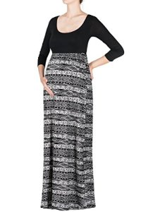 Beachcoco-Womens-Maternity-34-Sleeve-Printed-Maxi-Dress